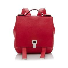 Rental Proenza Schouler Leather Small Backpack ($175) ❤ liked on Polyvore featuring bags, backpacks, red, handle bag, red backpack, real leather backpack, genuine leather backpack and proenza schouler