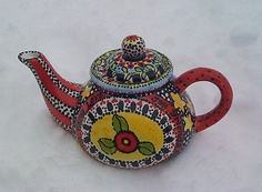Hand Painted Ceramic #Tea Pot $125
