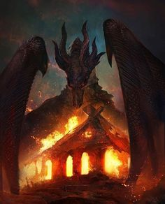 Fantasy Races, Fantasy Warrior, Red Dragon, Dragon Art, Dragon Pictures, Fantasy Pictures, Epic Art, Monster Art, Fantasy World