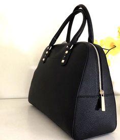 b4c1352173ff86 NWT MICHAEL KORS Handbag Sandrine Stud Black Leather Large Satchel Bag Tote  $428 $124.88