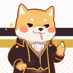 Okita Sougo х Kagura / Сого х Кагура | Gintama Shiba Inu, Chien Akita Inu, Cute Disney Drawings, Cute Animal Drawings, Animal Sketches, Cute Drawings, Kawaii Wallpaper, Animal Wallpaper, Chibi Dog
