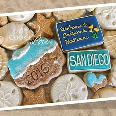 """She's headed to California for college so she picked a beach theme for her graduation cookies. I love doing the unexpected when it comes to cookies! Congratulations Katherine. #azcookielove #royalicing #decoratedcookies #cookieart #beach #graduation #sandiego"" Photo taken by @azcookielove on Instagram, pinned via the InstaPin iOS App! http://www.instapinapp.com (05/13/2016)"