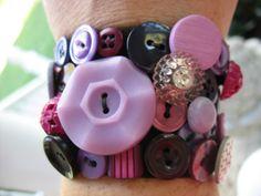 Purple button bracelet made for my friend Karen.