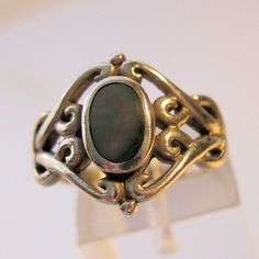 Art Nouveau Revival Abalone Sterling Silver by BrightEyesTreasures  $29.99