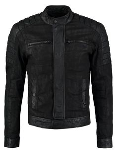 Urban Republic Men's Faux Leather Jacket with Fleece Hood | Kulit ...