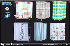 Blackys Sims 4 Zoo: Shower curtain by weckermaus • Sims 4 Downloads