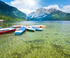 Alpine LakeCredit: Brykaylo Yuriy | shutterstock. Tucked away near the small Austrian village of Altausseer, this alpine lake is a popular tourist attraction with its pristine, jade-hued water.