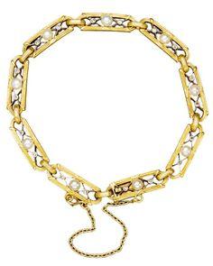 This 14 Karat Yellow Gold Vino Bracelet From Ruta Reifen Is Set
