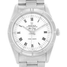 Rolex Oyster Perpetual Air King White Roman Dial Watch 14010