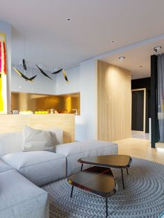 Amazing Homedesigning: U201c(via 4 Bright Studio Apartments With Creative Bedroom  Placement) U201d