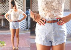 Diy Studded Cutoffs - want to do this!