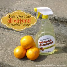 How to make your own All Natural Household Cleaner - Freetail Therapy Cleaning Products, Cleaning Supplies, Make Your Own, Make It Yourself, How To Make, All Natural Cleaners, Food Stamps, Spray Bottle, Household