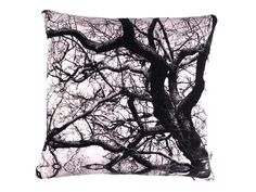 Handmade Velvet Double Sided Tree Print Cushion from maxandrosie.co.uk