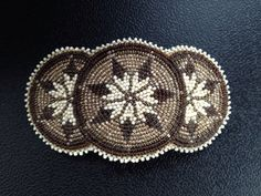 Native American Beaded Rosette Barrette  by Beadworkbyjenny, $30.00
