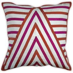 Positano Chevron Pillow by Jonathan Adler. Love pink & orange together -- so cute! Modern Home Furniture, Furniture Decor, Orange Pillows, Kids Decor, Home Decor, Decor Ideas, Decorative Accessories, Home Crafts, Jonathan Adler
