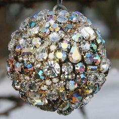 CUSTOM LISTING for Pamela  Down Payment 2 of 2 for Jeweled Ball Ornaments Set of Four