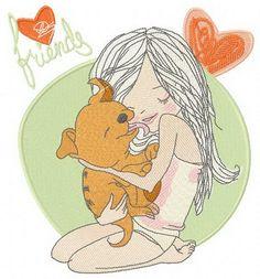 My puppy machine embroidery design. Machine embroidery design. www.embroideres.com