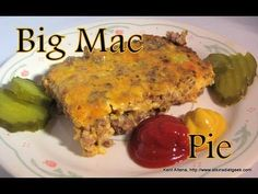 """Low Carb """"Big Mac"""" Pie - While this doesn't """"look"""" as appealing as lots of dishes, it tastes like a Big Mac and is really quick and easy to prepare."""