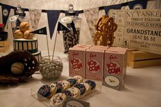 Vintage Baseball Birthday Party Ideas | Photo 13 of 22 | Catch My Party