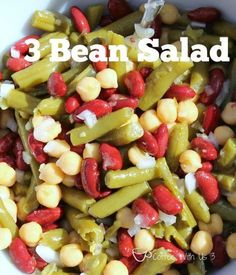 Quick and easy 3 Bean Salad is perfect for a barbeque or potluck! Throw everything together the night before, in less than 10 minutes! 3 Bean Salad, Bean Salad Recipes, Healthy Recipes, Easy Recipes, Grilled Recipes, Picnic Recipes, Delicious Recipes, Free Recipes, Keto Friendly Desserts