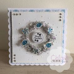 New In - Chloes Creative Cards - Chloes Creative Cards Chloes Creative Cards, Creative Christmas Cards, Xmas Cards, Handmade Christmas, Stamps By Chloe, Candy Wreath, Daisy Petals, Crafters Companion Cards, Sue Wilson