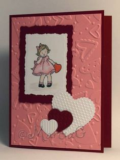 Sweet Little Valentine in Red by AbbysGrammy - Cards and Paper Crafts at Splitcoaststampers