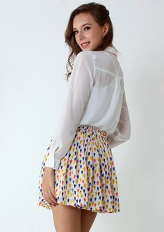 Colorful Popsicle Print Skater Skirt - New Arrivals - Retro, Indie and Unique Fashion