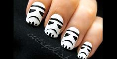 Star Wars nails, looks simple.  Maybe I'll give it a go!