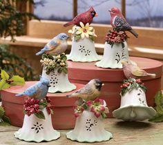 Christmas Colorful Seasonal Songbird Bird Bells Set of 6 Seasonal Decor, Holiday Decor, Home Decor Catalogs, Ring My Bell, Collections Etc, Christmas Decorations, Christmas Ornaments, Ceramic Flowers, Felt Diy