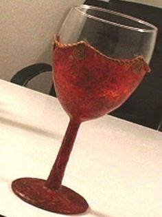 How to apply polymer clay to a drinking glass - for the wine glass idea I previously posted