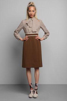 Vintage '70s Polka Dot Tie Neck Dress #urbanoutfitters #vintage
