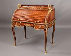 OnlineGalleries.com - Gilt Bronze Mounted Rolltop Desk