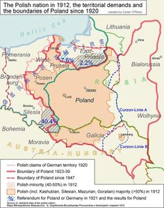 "Poland map - these changes of Poland's borders are an effect of betrayal of USA and England, during talks with ""Uncle Joe""=Stalin Murderer of Nations Poland Map, Poland History, Alternate History, Historical Maps, Family Genealogy, Old Maps, European History, Eastern Europe, Family History"