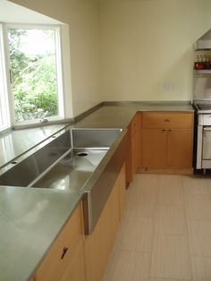 Custom Stainless Steel Counter Top Wit Farm Sink Incorporated. Unique Once  In A Life Time Design, Craftsmanship