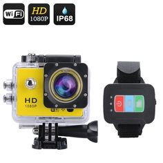 The Q3 Full HD 1080P Action Camera with remote controls, 30meter waterproof IP68 case and all the fittings you need to record all your adventures in…