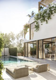 Koh Samui Property for Sale or Rental. View our selection of property for rent and sale. Dream Home Design, Home Interior Design, Modern Home Design, Modern Contemporary Homes, Bali Style Home, Small Villa, Dream House Exterior, House Goals, Exterior Design
