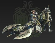 Charge blade monster hunter axe and monsters for Decorations monster hunter world