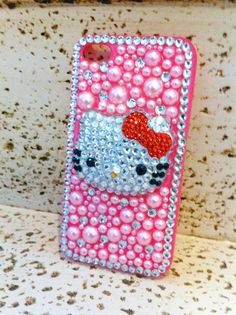 hello kitty phone by iDazzleyou on Etsy, $25.00
