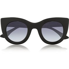 Thierry Lasry Oversized cat-eye acetate sunglasses (7,035 MXN) ❤ liked on Polyvore featuring accessories, eyewear, sunglasses, glasses, sunnies, black, black glasses, cateye glasses, oversized black sunglasses and black sunglasses