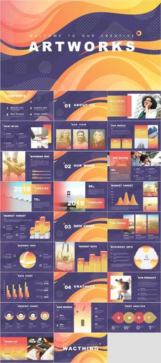 Marketing Report PowerPoint template on Behance Professional Powerpoint Templates, Powerpoint Template Free, Powerpoint Presentation Templates, Powerpoint Designs, Web Design, Slide Design, Design Art, Logo Design, Presentation Software