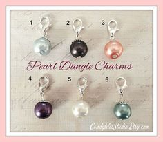 Add a pearl dangle to your glass photo pendant or locket necklace!    Our pearl dangle charms are a great look for your photo pendants and
