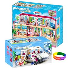 Playmobil Hotel Set Includes: Large Furnished Hotel and Hotel Shuttle Bus  http://www.bestdealstoys.com/playmobil-hotel-set-includes-large-furnished-hotel-and-hotel-shuttle-bus/