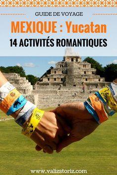 Je n'avais pas encore trop eu l'occasion de jouer les midinettes en voyage. Encore moins en liant le tout avec des décors paradisiaques de plages de sable blanc et d'eau turquoise… Et bien c'est fait ! Si vous avez décidé d'aller faire un voyage romantique au Mexique, quelque chose me dis que vous avez beaucoup d'options pour trouver votre bonheur au Yucatán. Mucho ! Voici comment ! | road trip yucatan mexique | yucatan paysages | guide de voyage yucatan | activités Mexique