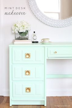 Mint Desk Makeover - Love Grows Wild