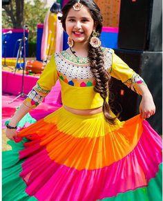 Baby Wedding Dresses Kids Indian Wear Online On Student Show Kids Dress Wear, Kids Gown, Kids Wear, Sew Dress, Wedding Dresses For Kids, Dresses Kids Girl, Kids Outfits, Kids Lehenga Choli, Baby Lehenga
