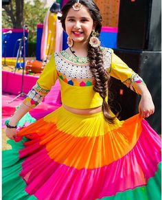 Lehenga # colourful # kids wear #
