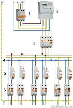 схема электропроводки при терхфазном питании