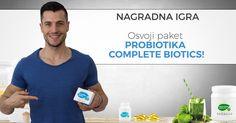 [NAGRADNA IGRA] Osvoji paket probiotika Complete Biotics za zdravu crijevnu floru!   Upiši e-mail, lajkaj, dijeli i u komentar upiši jednu od mnogobrojnih koristi Complete Biotics te uz malo sreće osvojiti ćeš paket najkvalitetnijih probiotika marke Golden Tree Nutrition!     Klikni na sliku i prijavi se!