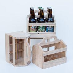 Wooden 6-Pack Beer Carrier