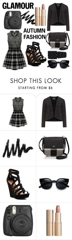"""""""Autumn Fashion"""" by kreseviclaura ❤ liked on Polyvore featuring Manon Baptiste, Kate Spade, Chinese Laundry, Fujifilm, Charlotte Tilbury and Gucci"""